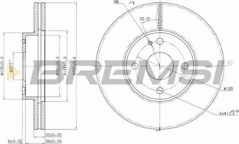 Bremsi CD6495V - Bremžu diski interparts.lv