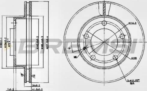 Bremsi CD6496V - Bremžu diski interparts.lv