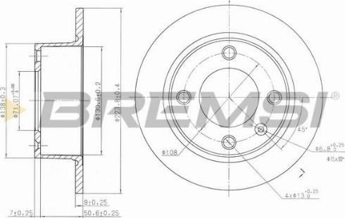 Bremsi CD6490S - Bremžu diski interparts.lv