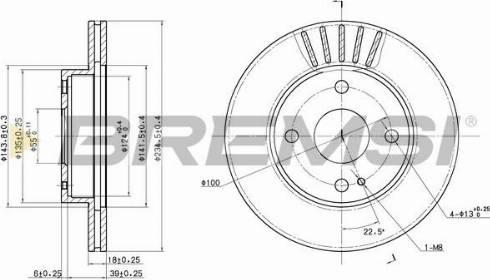 Bremsi CD6497V - Bremžu diski interparts.lv