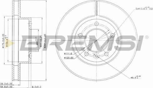 Bremsi CD6440V - Bremžu diski interparts.lv