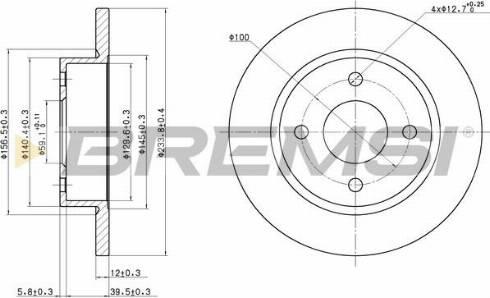Bremsi CD6442S - Bremžu diski interparts.lv