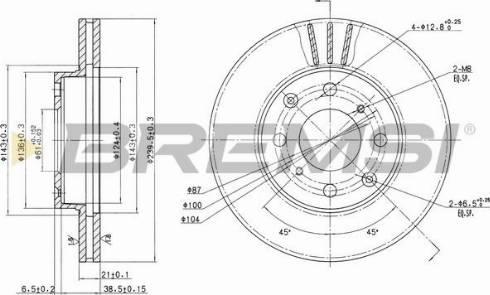Bremsi CD6447V - Bremžu diski interparts.lv
