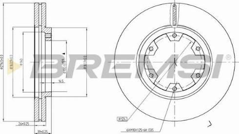 Bremsi CD6464V - Bremžu diski interparts.lv
