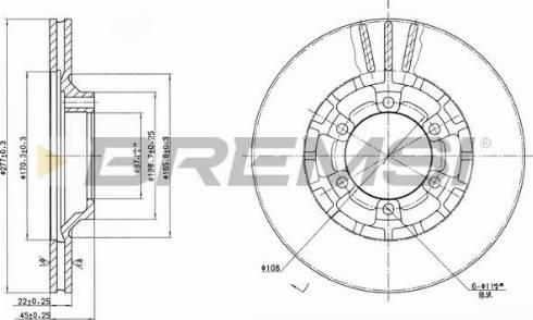 Bremsi CD6460V - Bremžu diski interparts.lv