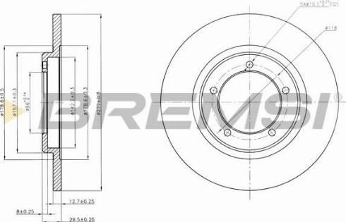 Bremsi CD6419S - Bremžu diski interparts.lv