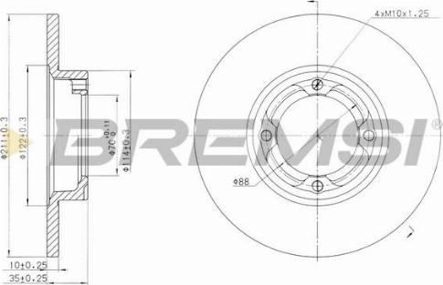 Bremsi CD6418S - Bremžu diski interparts.lv