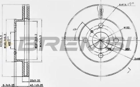 Bremsi CD6413V - Bremžu diski interparts.lv