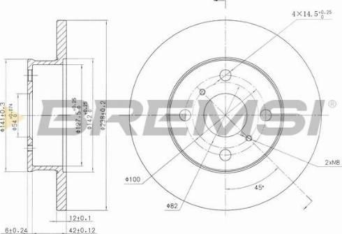 Bremsi CD6412S - Bremžu diski interparts.lv