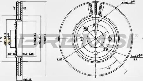 Bremsi CD6489V - Bremžu diski interparts.lv