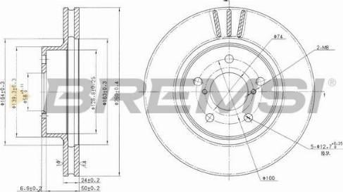 Bremsi CD6485V - Bremžu diski interparts.lv