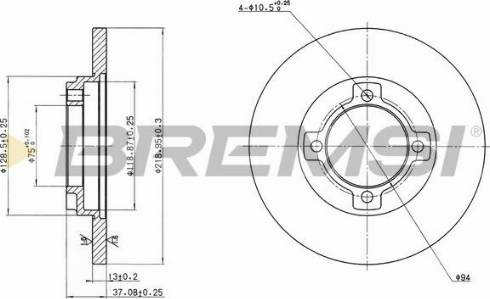Bremsi CD6429S - Bremžu diski interparts.lv