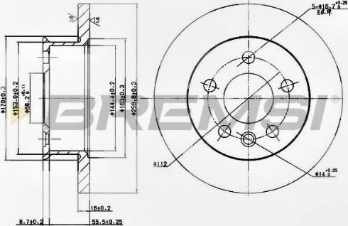 Bremsi CD6426S - Bremžu diski interparts.lv