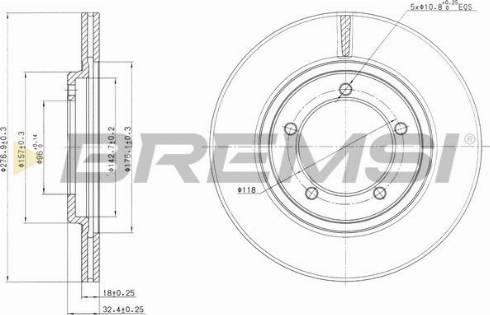 Bremsi CD6420V - Bremžu diski interparts.lv