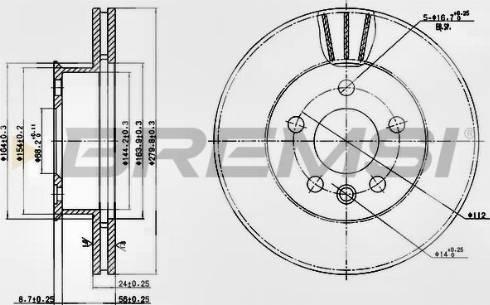 Bremsi CD6427V - Bremžu diski interparts.lv