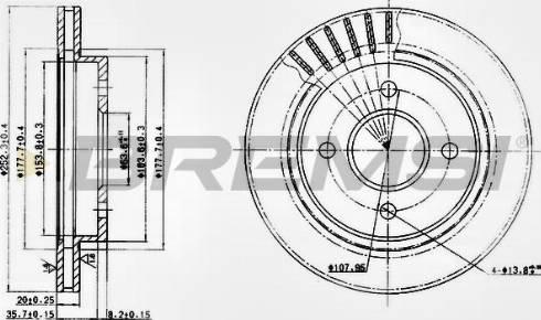 Bremsi CD6479V - Bremžu diski interparts.lv