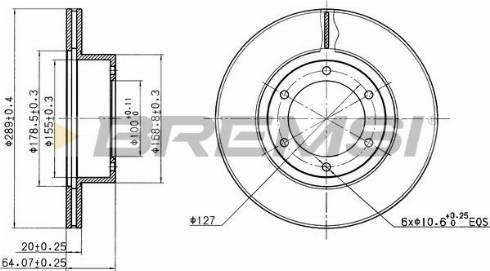 Bremsi CD6596V - Bremžu diski interparts.lv