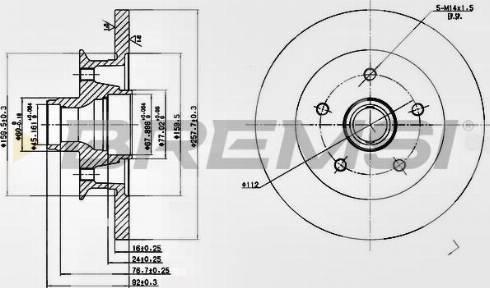Bremsi CD6542S - Bremžu diski interparts.lv