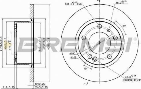 Bremsi CD6554S - Bremžu diski interparts.lv