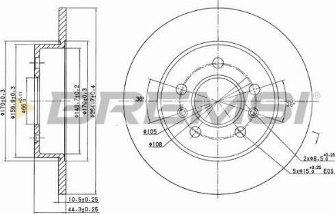 Bremsi CD6556S - Bremžu diski interparts.lv