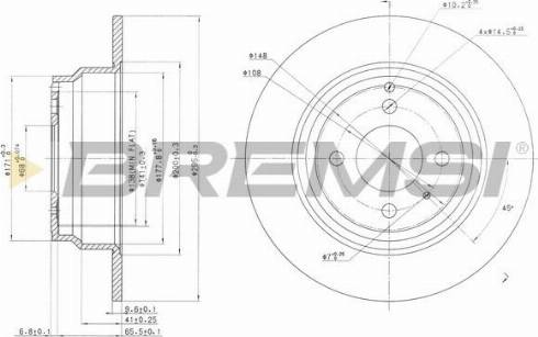 Bremsi CD6551S - Bremžu diski interparts.lv