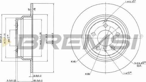 Bremsi CD6552S - Bremžu diski interparts.lv