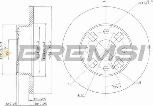 Bremsi CD6564S - Bremžu diski interparts.lv