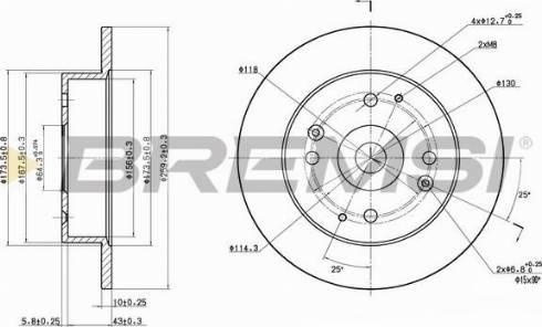 Bremsi CD6565S - Bremžu diski interparts.lv
