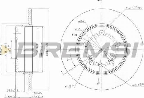Bremsi CD6560S - Bremžu diski interparts.lv