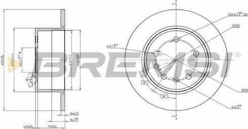 Bremsi CD6561S - Bremžu diski interparts.lv