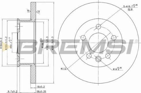 Bremsi CD6562S - Bremžu diski interparts.lv