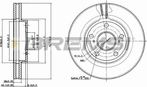 Bremsi CD6501V - Bremžu diski interparts.lv