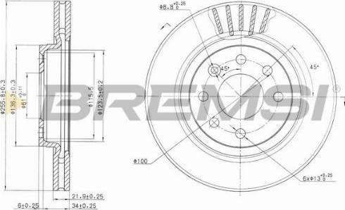 Bremsi CD6510V - Bremžu diski interparts.lv