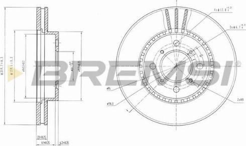 Bremsi CD6511V - Bremžu diski interparts.lv