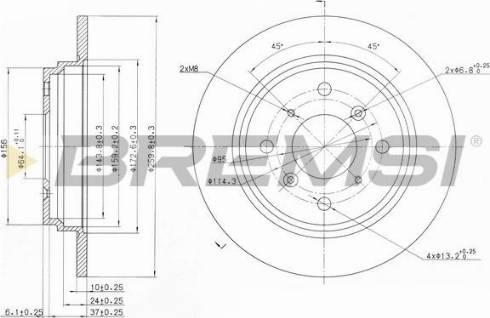 Bremsi CD6512S - Bremžu diski interparts.lv