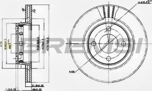 Bremsi CD6517V - Bremžu diski interparts.lv