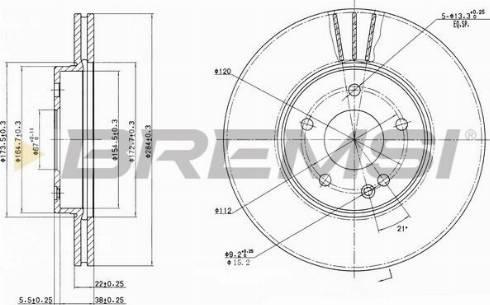 Bremsi CD6588V - Bremžu diski interparts.lv