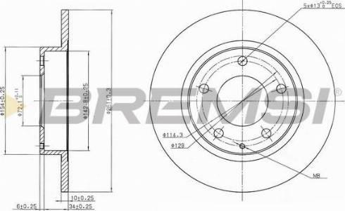 Bremsi CD6524S - Bremžu diski interparts.lv