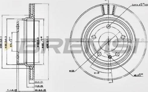 Bremsi CD6520V - Bremžu diski interparts.lv