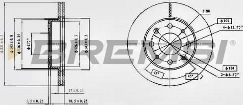 Bremsi CD6571V - Bremžu diski interparts.lv