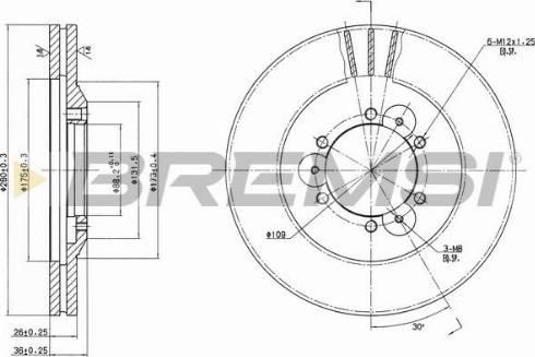 Bremsi CD6694V - Bremžu diski interparts.lv
