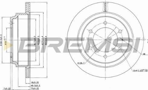 Bremsi CD6695V - Bremžu diski interparts.lv