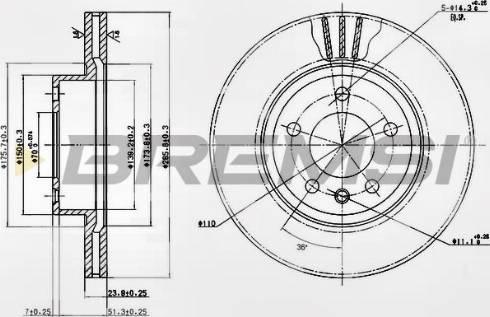 Bremsi CD6697V - Bremžu diski interparts.lv