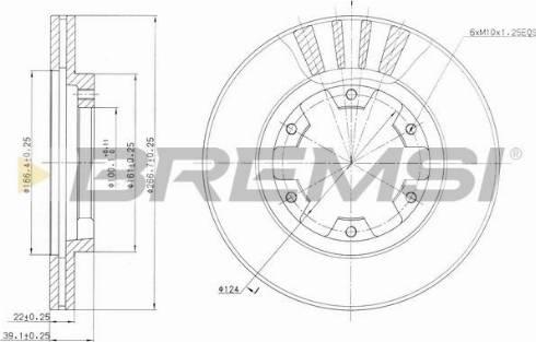 Bremsi CD6660V - Bremžu diski interparts.lv