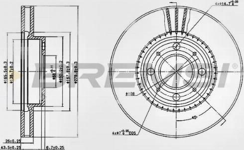 Bremsi CD6604V - Bremžu diski interparts.lv