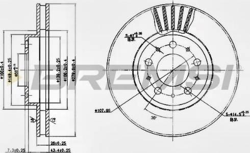 Bremsi CD6605V - Bremžu diski interparts.lv