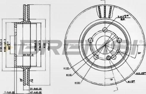 Bremsi CD6630V - Bremžu diski interparts.lv
