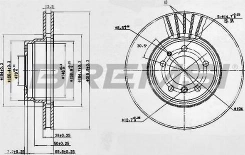 Bremsi CD6624V - Bremžu diski interparts.lv
