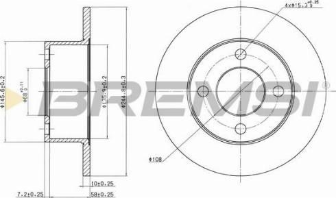 Bremsi CD6625S - Bremžu diski interparts.lv