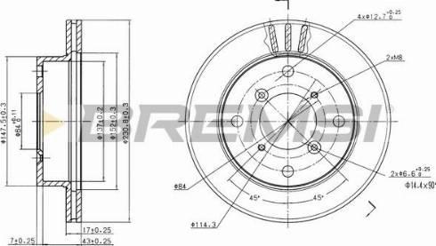 Bremsi CD6623V - Bremžu diski interparts.lv